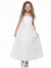 A-Line Rosette Skirt Communion Dress