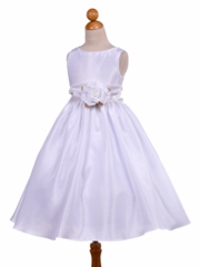 Elegant Poly Shantung Silk Communion Dress