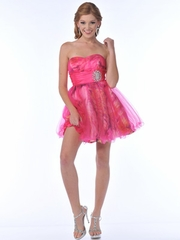 Elegant Prom Dress with Accented Jewel Waistband