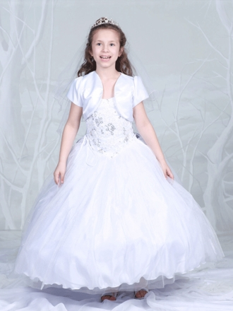Exquisite Holy Communion Dress with Matching Bolero Jacket