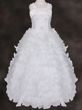 Exquisite Holy Communion Dress with Ruffle Skirt