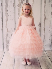 Fanciful Layered Flower Girl Dress