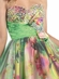 Fancy Floral Printed Short Prom Dress