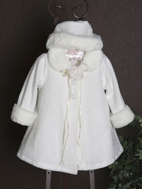 Fleece coat for baby girl