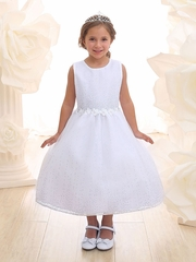 Floor Length Taffeta Dress with Daisy Flowers