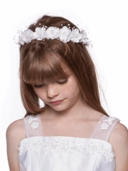 Floral hair crown for flower girl