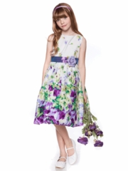 Floral Sleeveless Cotton Dress