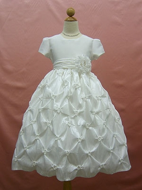Gathered communion dress