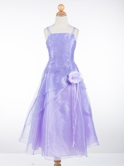 Gorgeous A-line Embroidered Organza Flower Girl Dress