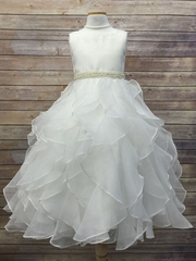 Gorgeous Cascade Dress with Pearl Belt