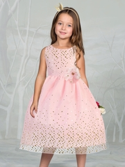 Gorgeous Mesh Flower Girl Dress with Gold Dots