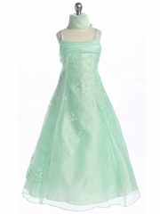 Gorgeous Mint A-line Embroidered Dress