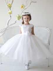 Gorgeous Satin And Tulle Communion Dress