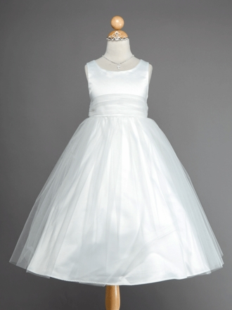 Gorgeous Satin and Tulle Flower Girl Dress