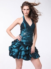 Halter and Bubble  Short Prom Dress