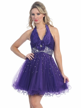 Halter Neckline Short Homecoming Dress