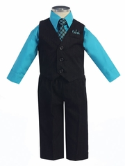 Handsome 4 pc Graduation Vest Set