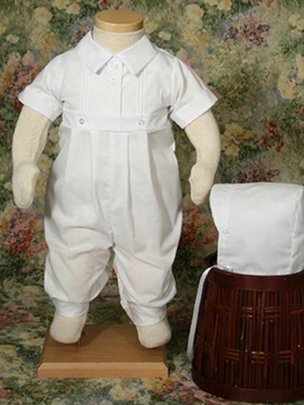 Handsome Short Sleeve 1-Piece Boys Christening
