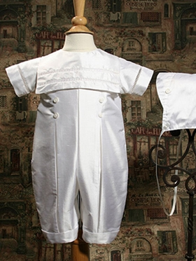Handsome Silk Dupioni Coverall with Open-Work Accents