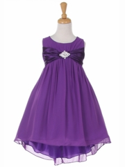 Hi-low Soft Sheer Graduation Dress