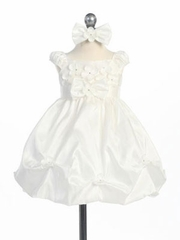 Ivory Mini Flowers Flower Girl Dress