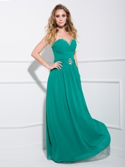 Jeweled Neckline Elegant Long Prom Dress