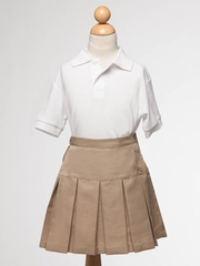 Khaki Girl's Uniform Pleaded Skirt