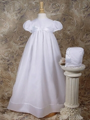 Knotted Ribbon Organza Christening Gown