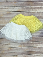 Lace Skirt With Soft Mesh Underlay and Hidden Shorts