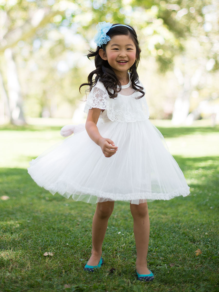 Laced Girl's Tea Party Dress