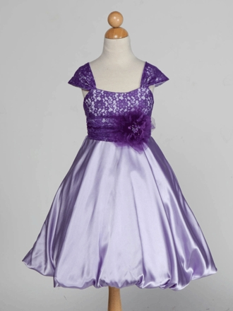 PURPLE FLOWER GIRL DRESSES - Sanmaz Kones