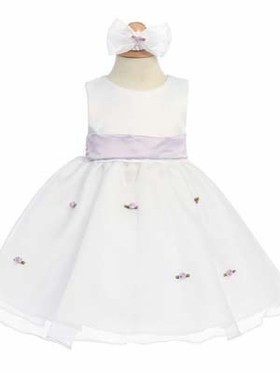Lilac Small Flowers Skirt Infant Dress