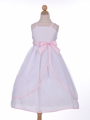 Lovely Organza Flower Girl Dress with Satin Ribbon