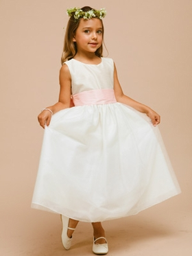 Lovely Poly and Tulle Flower Girl Dress