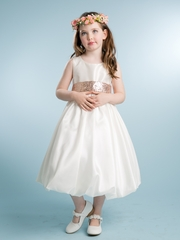 Lovely Taffeta Dress With Sequins Belt.
