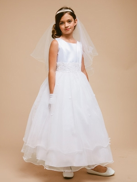 Lovely Triple Layered  Flower Girl Dress