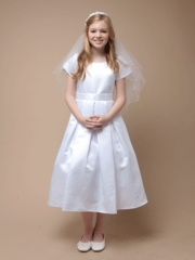 Lovely White Satin Communion Dress