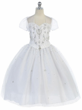 Luxury Beads Accented Communion Dress