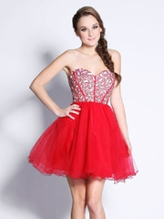 Luxury Bodice & Tulle Short Prom Dress