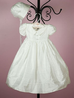 Natural Silk Christening Gown for Girl