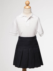 Navy Blue Girl's Uniform Pleaded Skirt