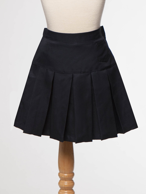 ... to School > Girls Uniforms > Navy Blue Girl's Uniform Pleaded Skirt
