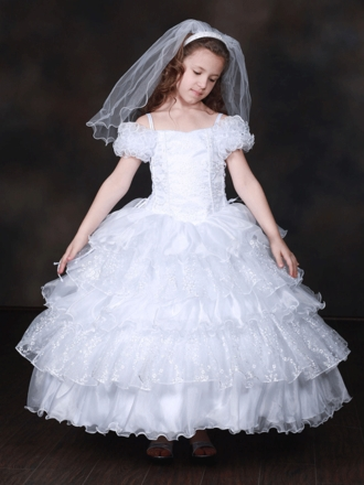 Off shoulder Exquisite Holy Communion Dress
