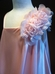 Off Shoulder Silky Satin Flower Girl Dress