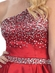 One Shoulder w/Jewel Accented Short Prom Dress