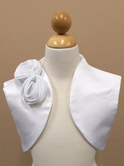 Satin Bolero With Hand-rolled Rossetes