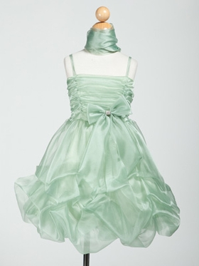 Organza Short Graduation Dress with Gathered Bodice