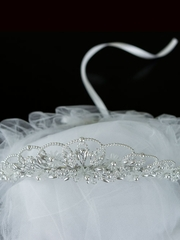 Pearl Communion Wreath with Veil