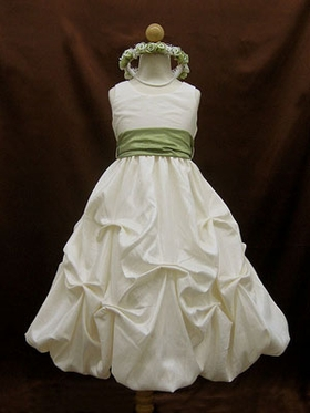 Pick-up Skirt  Flower Girl Dress