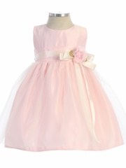Pink Vintage Satin and Tulle Dress